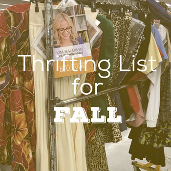 Thrifting List for Fall