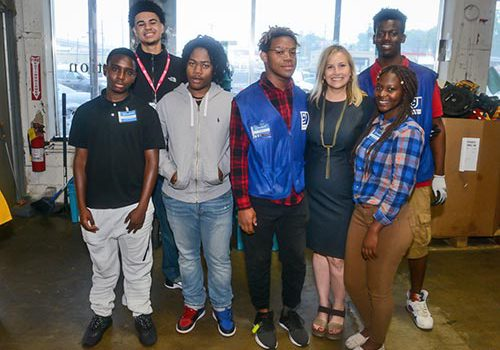 Mayor Megan Barry With The Opportunity Now Goodwill Interns