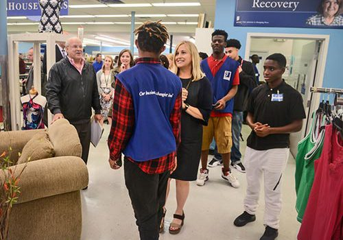 Mayor Megan Barry Meeting The Opportunity Now Goodwill Interns