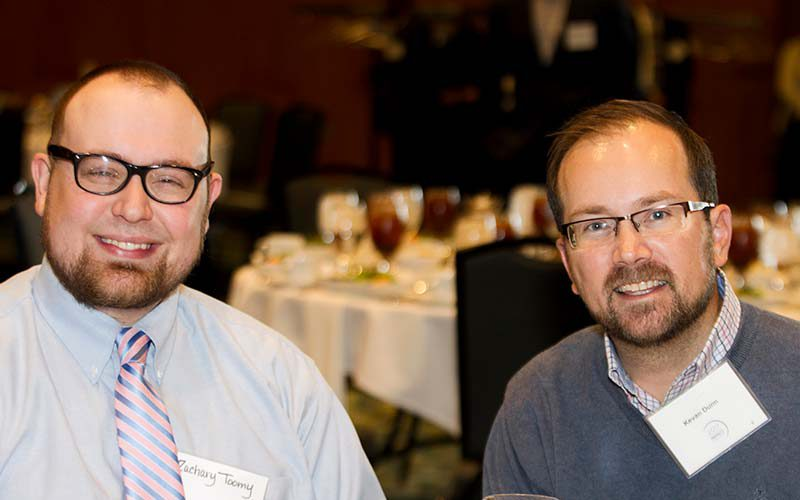 Event Print Sponsors - Zachary Toomey and Kevan Dunn of Parris Printing