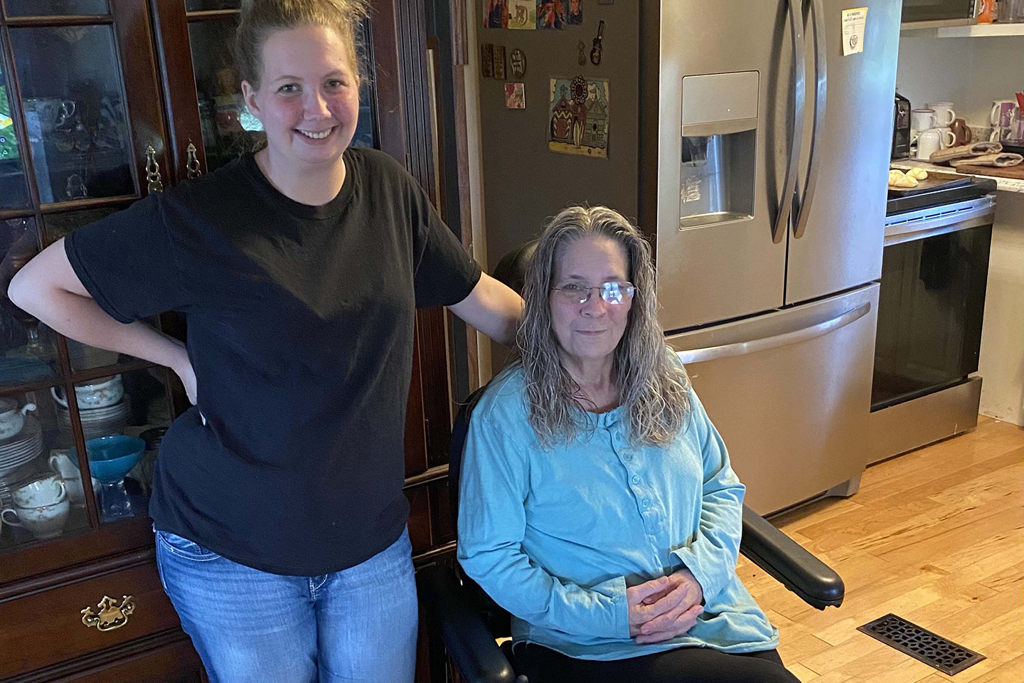 Finding a job at Goodwill made it possible for Erica to move to Cookeville to take care of her mother, Joyce Vaughan.