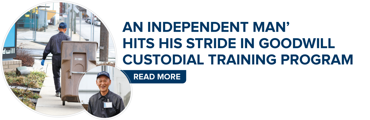 'An Independent Man' Hits His Stride In Goodwill Custodial Training Program